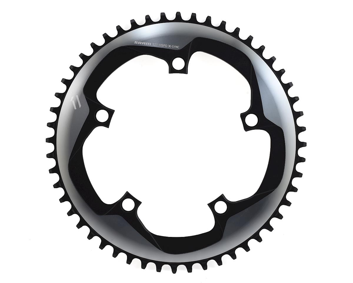 SRAM Force 1 X-Sync 1x Chainring (Gray/Matte Black) (52T) (130 BCD)