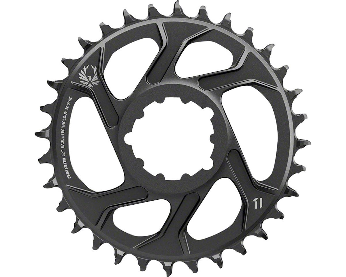 SRAM X-Sync 2 Eagle Chainring 30T Direct Mount 6mm Offset Black BB30 or GXP