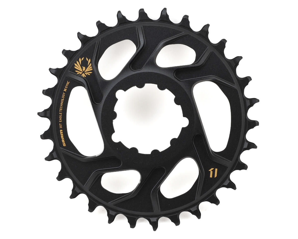 SRAM X-Sync 2 Eagle Chainring Direct Mount 6mm Offset (Black/Gold) (30T)