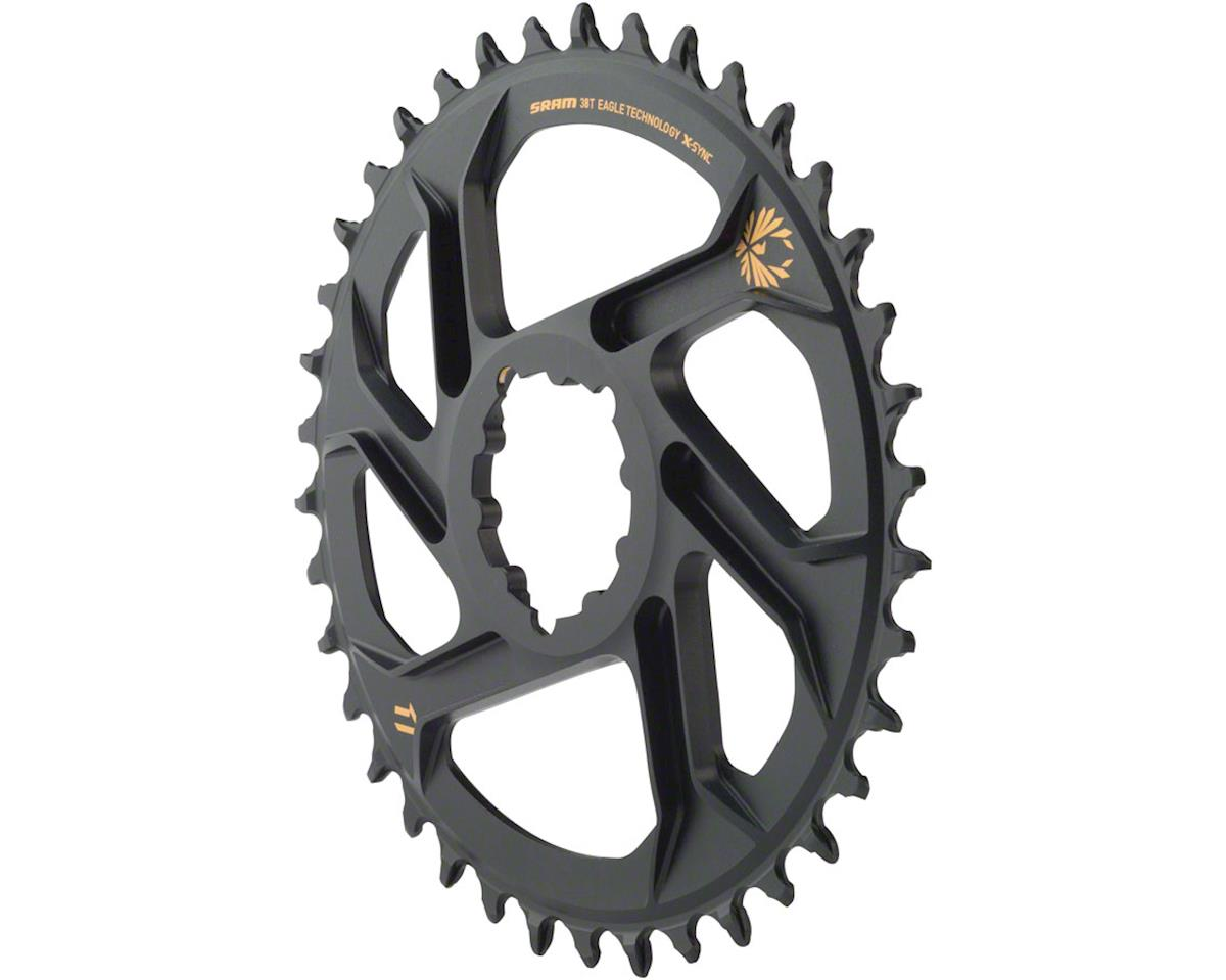 SRAM X-Sync 2 Eagle Direct Mount Chainring (Black w/ Gold Logo) (6mm Offset) (38T)