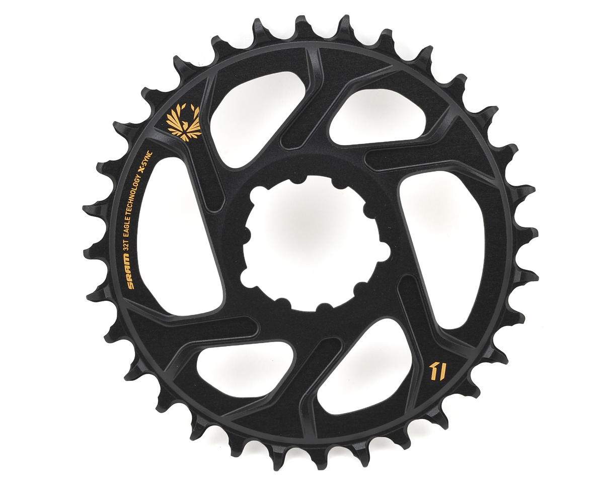 SRAM X-Sync 2 Eagle Chainring Direct Mount BOOST 3mm Offset (Black/Gold) (32T)