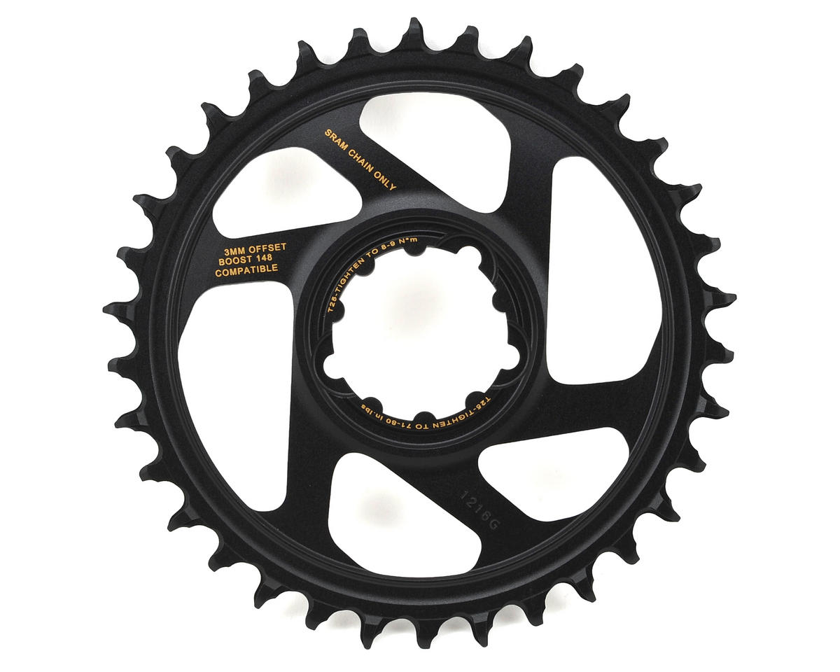SRAM X-Sync 2 Eagle Chainring Direct Mount BOOST 3mm Offset (Black/Gold) (34T)