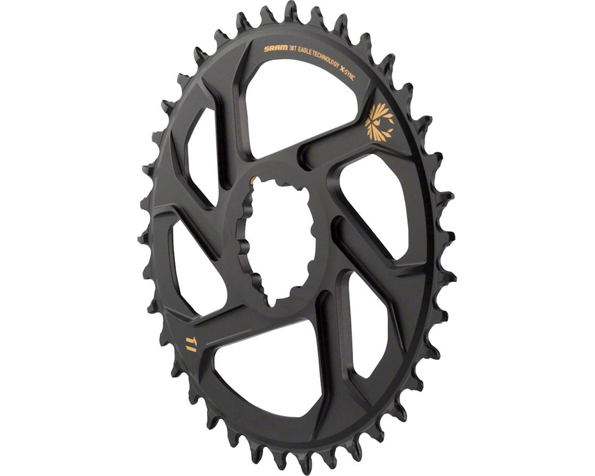 SRAM X-Sync 2 Eagle Chainring 38T Direct Mount 3mm Offset Boost Black with Gold