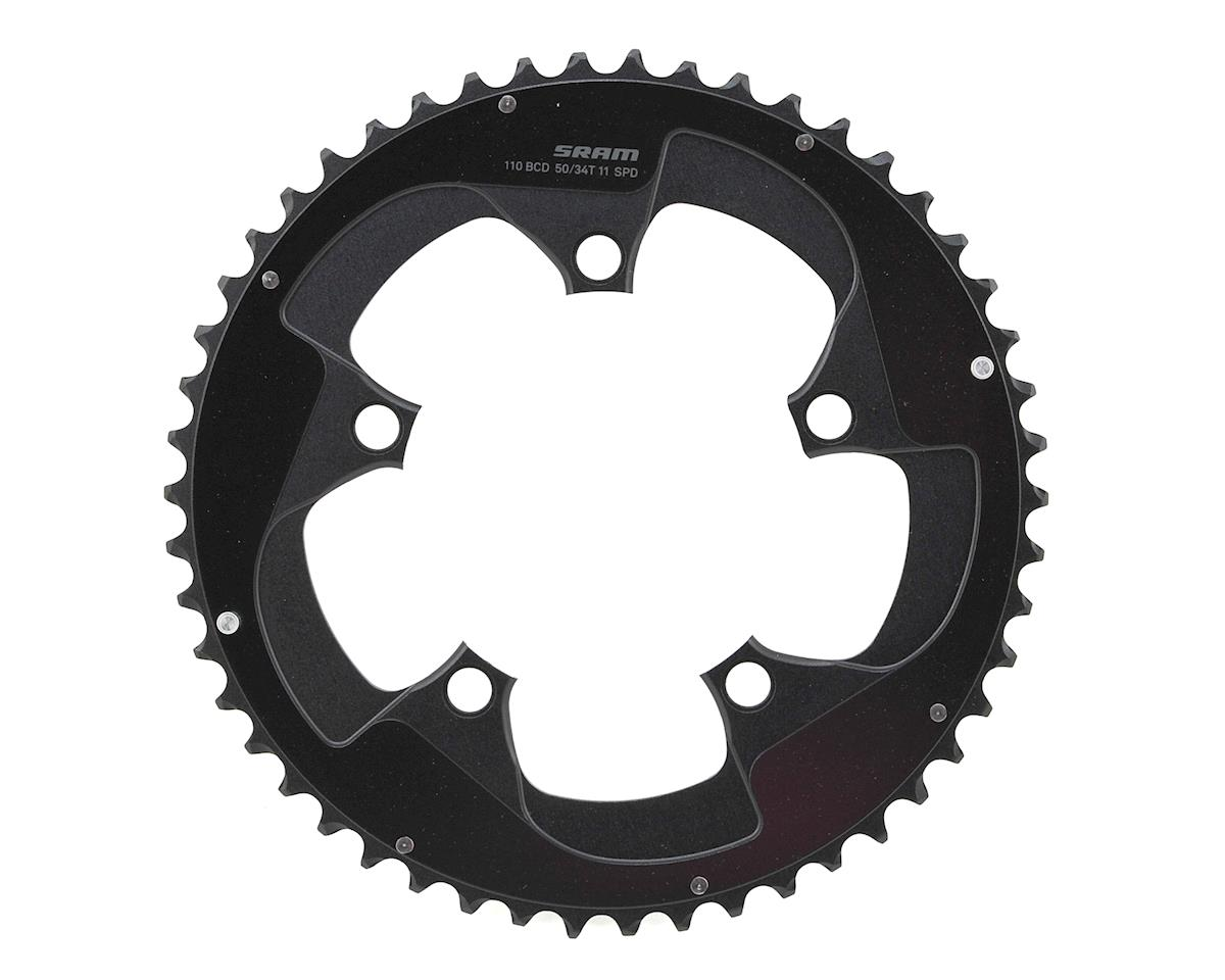 SRAM Red 22 52T x 110mm BCD YAW Chainring with Two Pin Positions, B2 (50T)