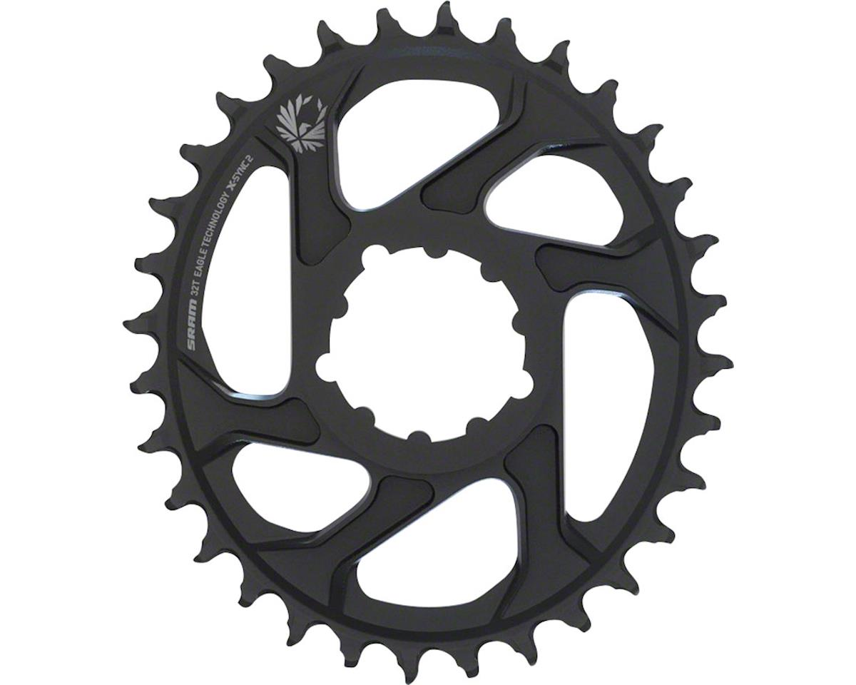 SRAM Eagle X-Sync 2 Oval Direct Mount Chainring (Black) (6mm Offset) (32T)
