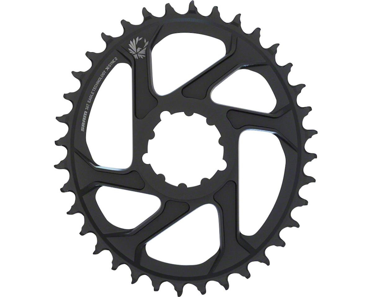 SRAM Eagle X-Sync 2 Oval Direct Mount Chainring (Black) (3mm Offset) (Boost) (34T)