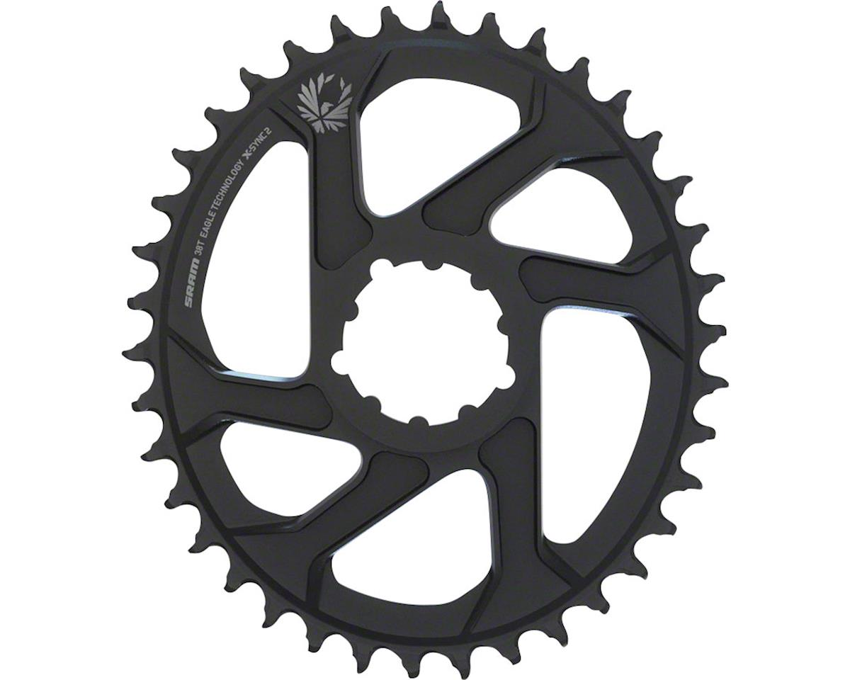 SRAM Eagle X-Sync 2 Oval Direct Mount Chainring (Black) (3mm Offset) (Boost) (38T)