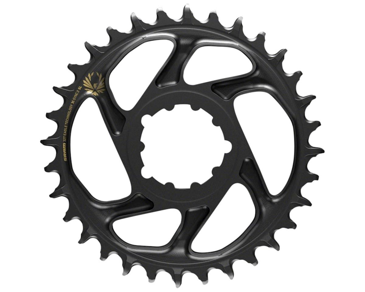 SRAM X-Sync 2 Eagle SL DM Chainring (Black/Gold Logo) (Boost) (3mm Offset) (32T)