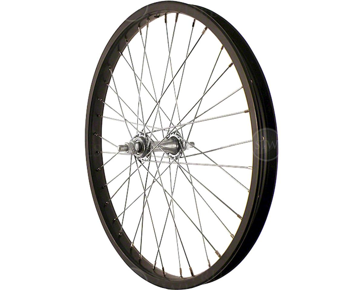 "Front Wheel 20"" Black Steel Rim, Solid Axle, and 36 Spokes, Includes Axl"