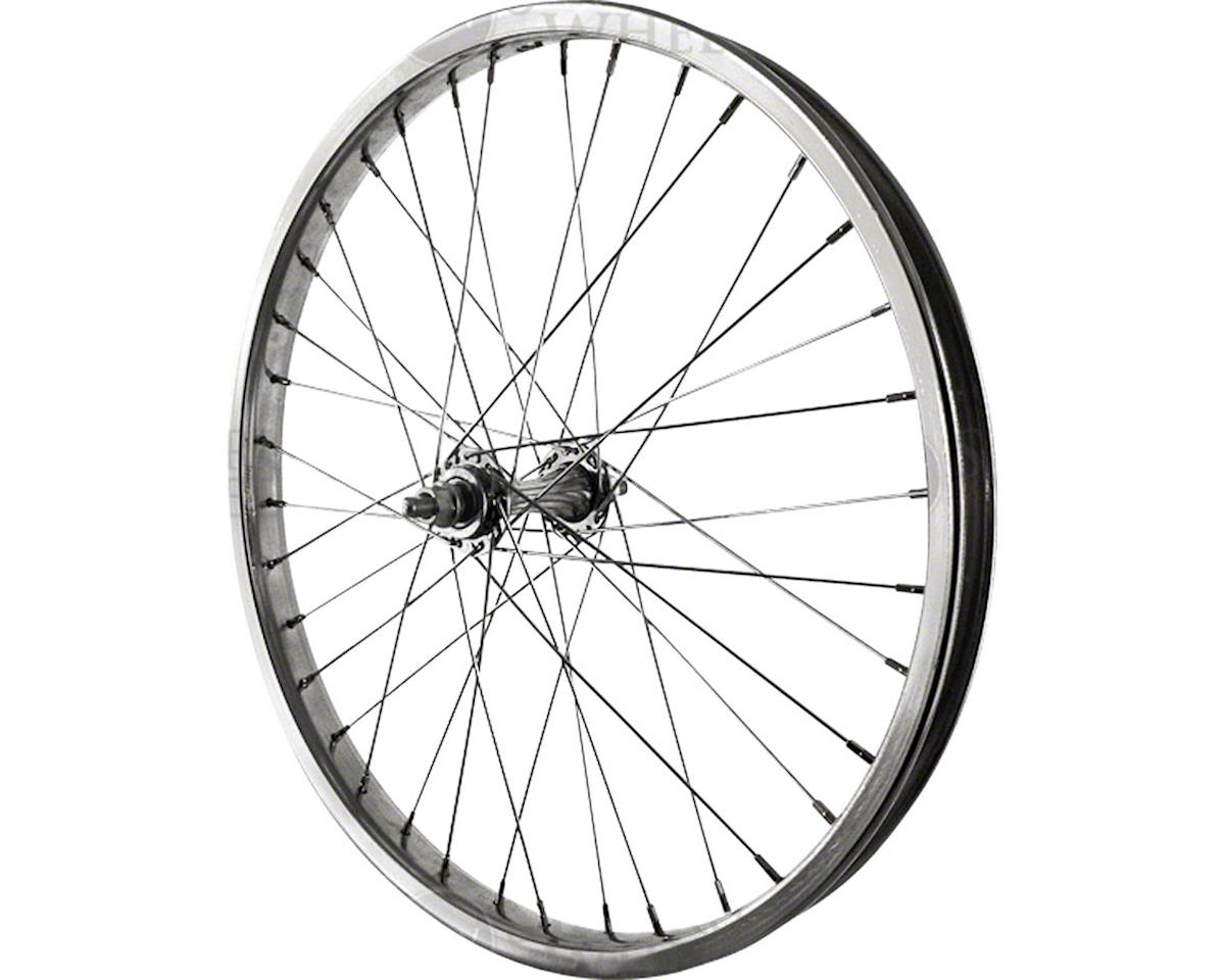 "Front Wheel 20"" Silver Steel Rim, Solid Axle, and 36 Spokes, Includes Ax"