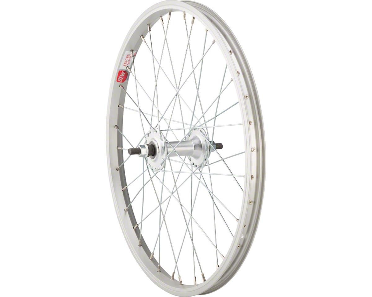 "Front Wheel 20"" x 1.5"" Solid Axle, 36 Spokes, Includes Axle Nuts, Silver"