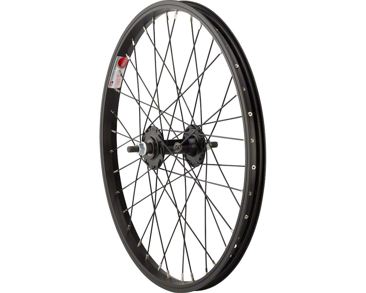 "Front Wheel 20"" x 1.5"" Solid Axle, 36 Spokes, Includes Axle Nuts, Black"