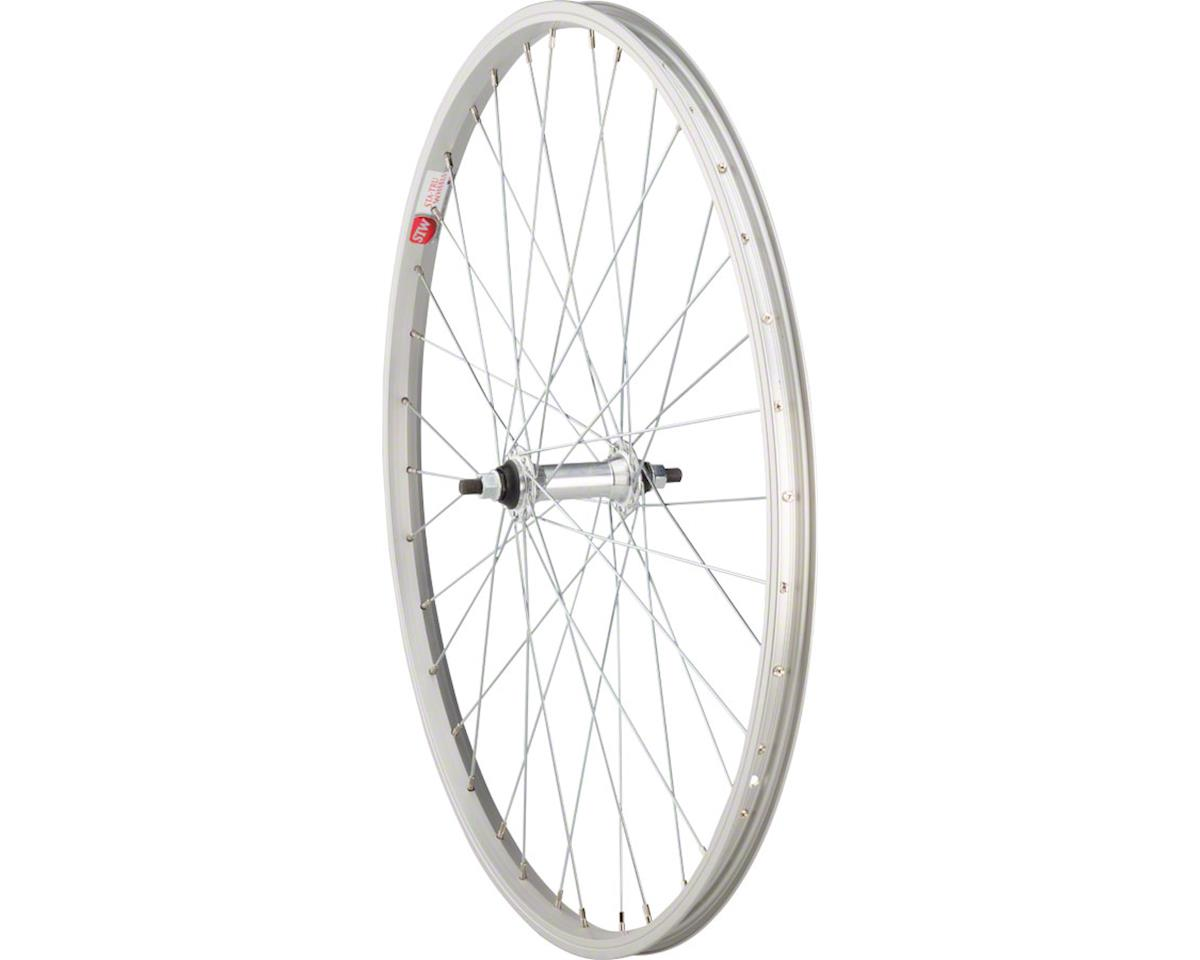 "Front Wheel 26"" x 1.5"" Solid Axle, 36 Spokes, Includes Axle Nuts, Silver"