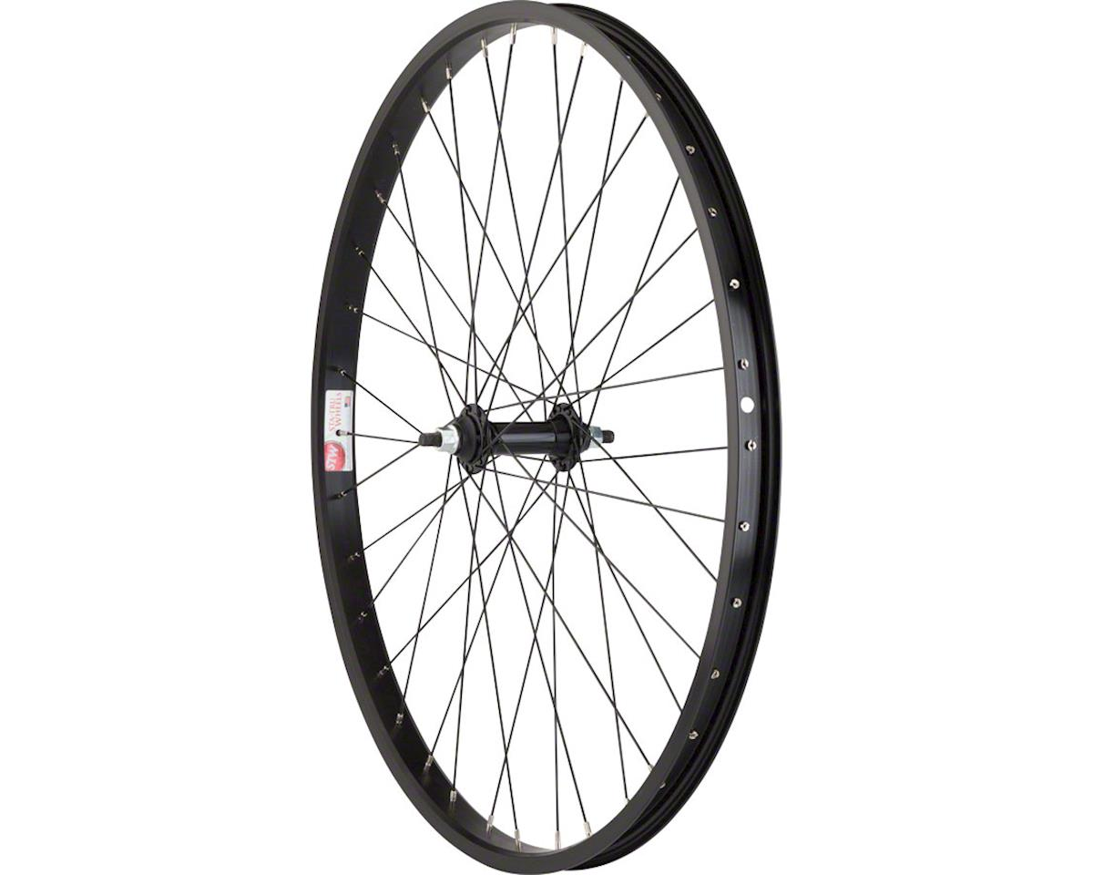 "Sta-Tru Front Wheel 26"" x 1.75"" Solid Axle, 36 Spokes, Includes Axle Nuts, Black"