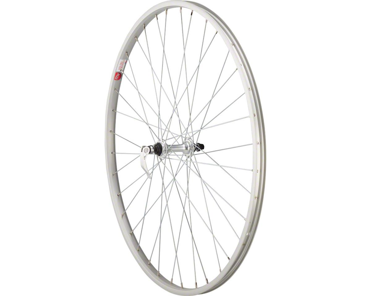 "Front Wheel 27"" x 1 1/4"" Silver 36 Spokes, Alloy Rim 100mm Quick-Release"