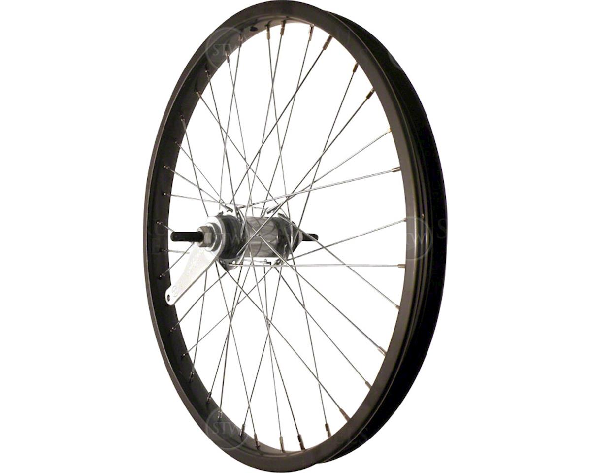 "Rear Wheel 20"" Black Coaster Brake Steel Rim, Bolt-on Axle, 36 Spokes, I"