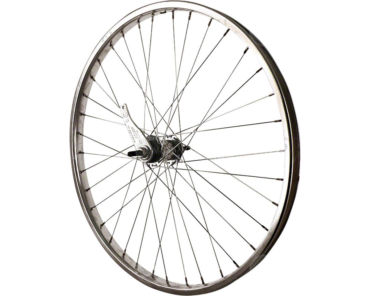 "Rear Wheel 24"" Silver Coaster Brake Steel Rim, Bolt-on Axle, 36 Spokes,"