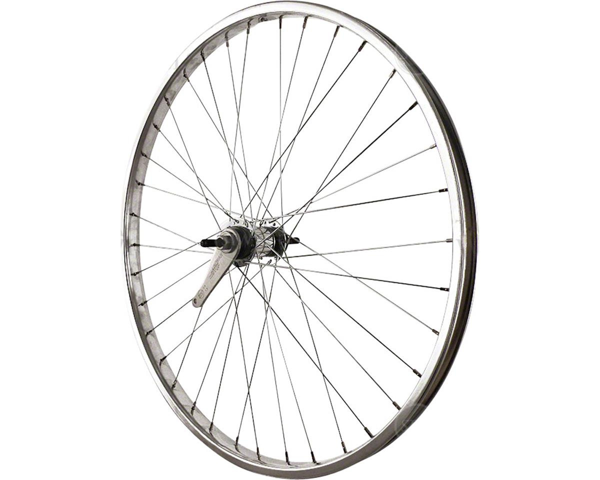 Sta Tru Rear Wheel 26 inch Silver Coaster Brake Steel Rim with Bolt-on Axle 36 S