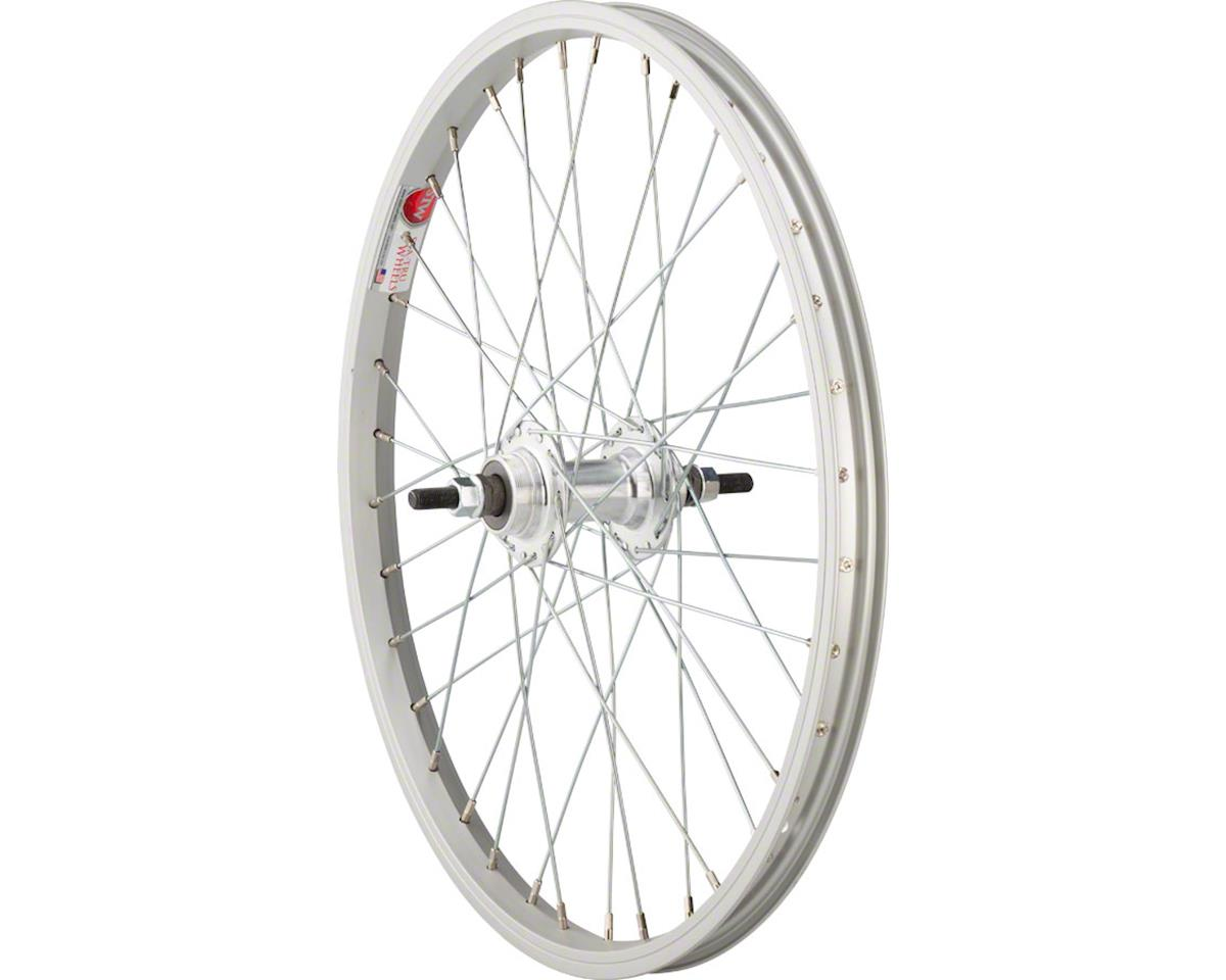"Rear Wheel 20"" x 1.75"" Solid Axle, 36 Spokes, Includes Axle Nuts, Silver"