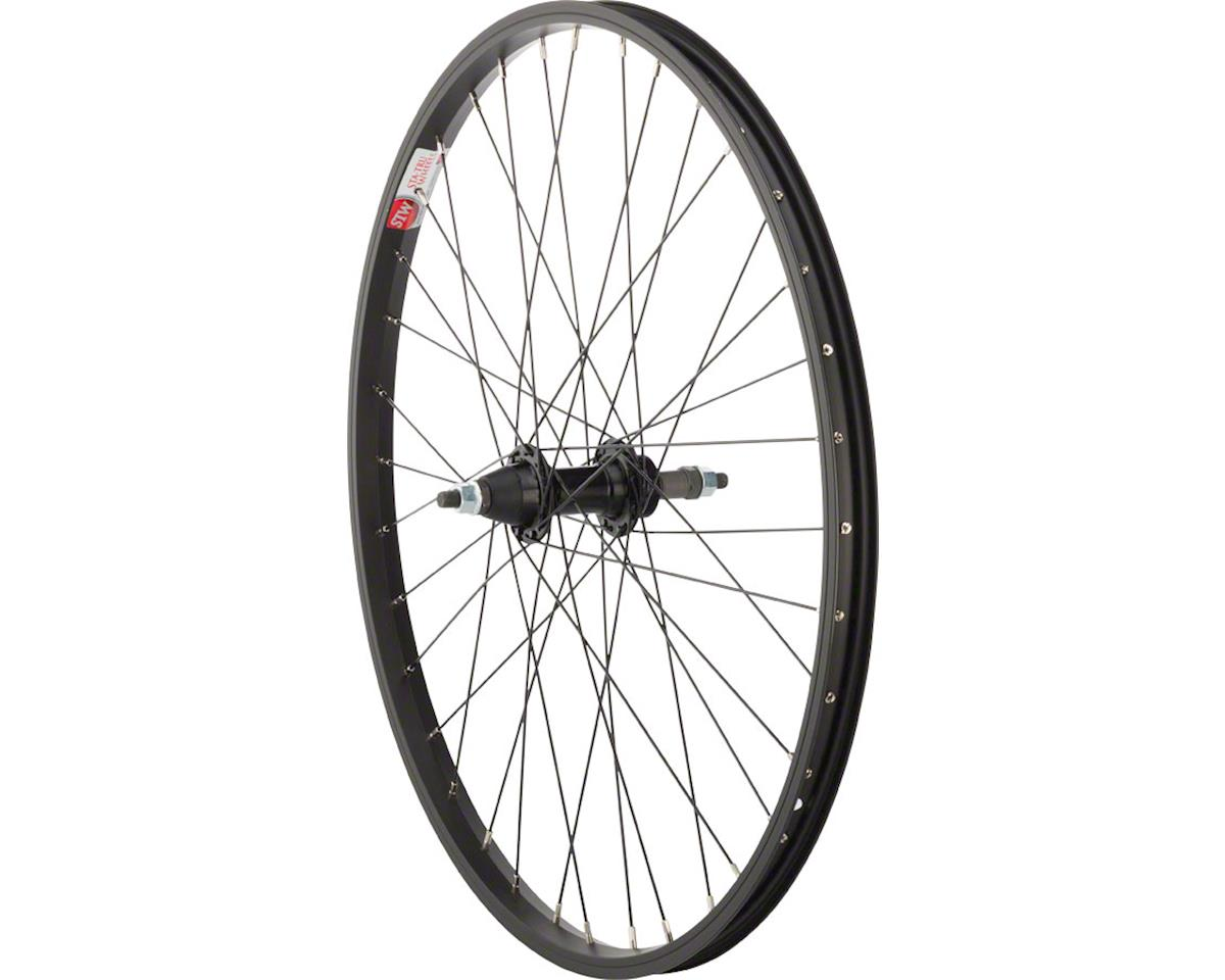 "Sta-Tru Rear Wheel 24"" x 1.5"" Solid Axle, 36 Spokes, 5-8 Speed Freewheel, Includ"