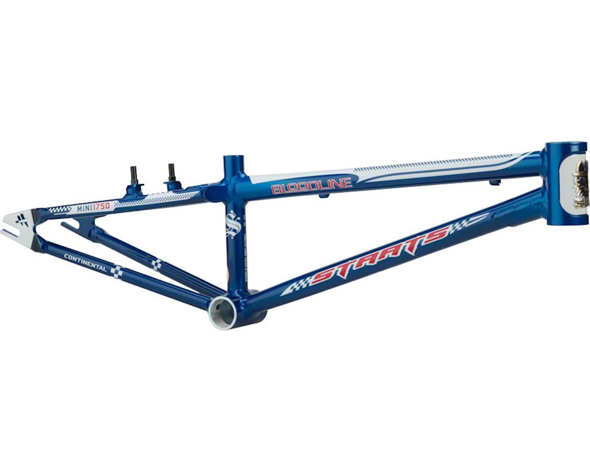 "Staats Bloodline Continental BMX Race Frame - Mini, 17.5"" TT, French Blue, Black"