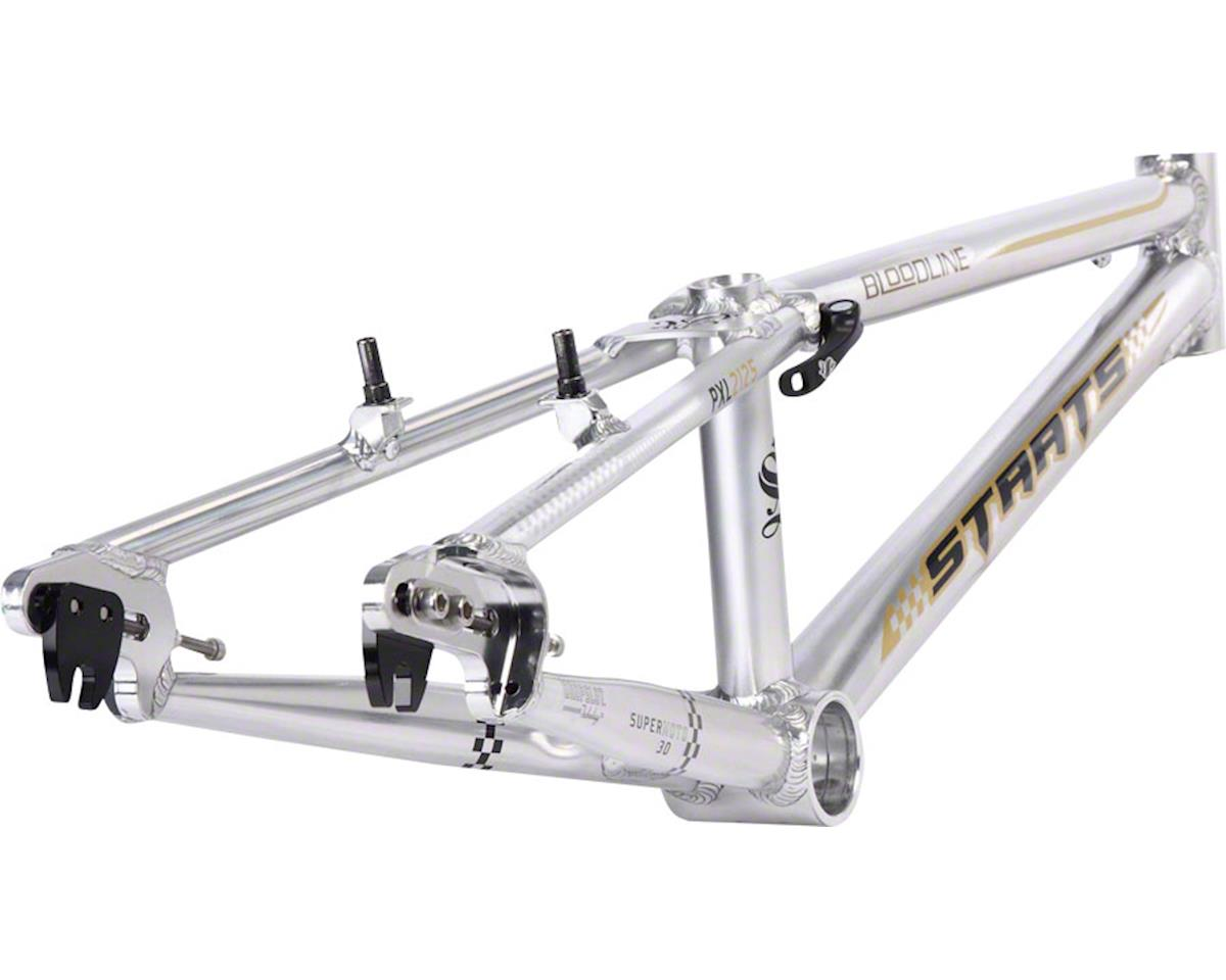 "Staats Bloodline SuperMoto30 Pro XL PF30 Frame 21.25"" Top Tube Silver Arrow Poli"