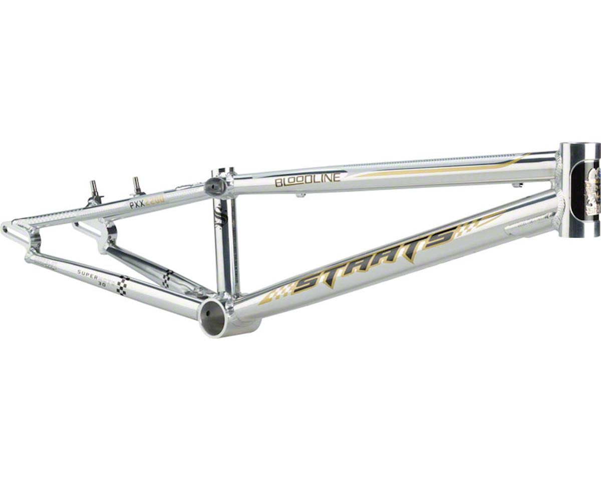 "Staats Bloodline SuperMoto30 BMX Race Frame - Pro XXL, 22"" TT, Silver Arrow Poli"