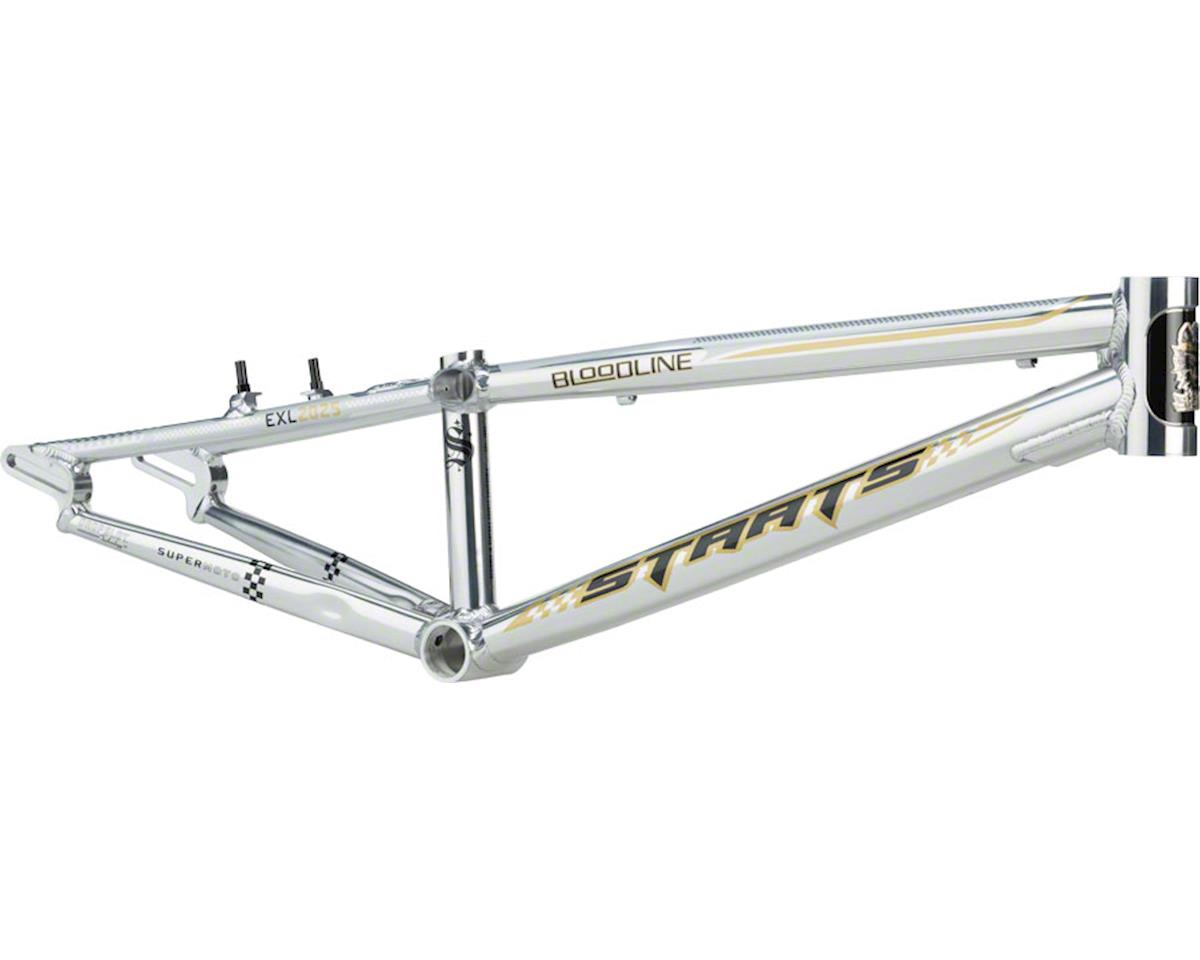 "Staats Bloodline SuperMoto30 BMX Race Frame - Junior, 18.5"" TT, Silver Arrow Pol"