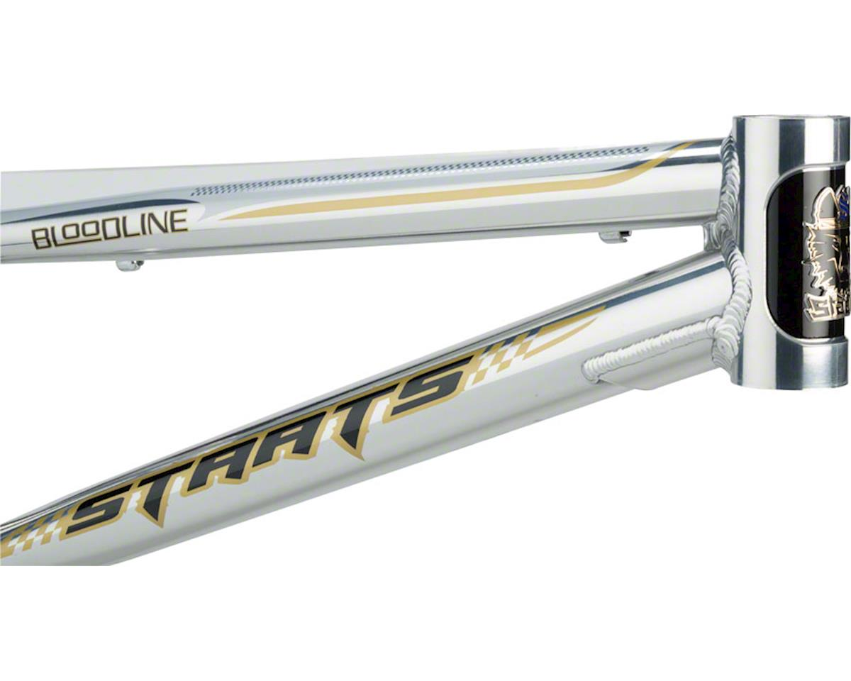 "Staats Bloodline SuperMoto30 BMX Race Frame - Expert, 19.5"" TT, Silver Arrow Pol"