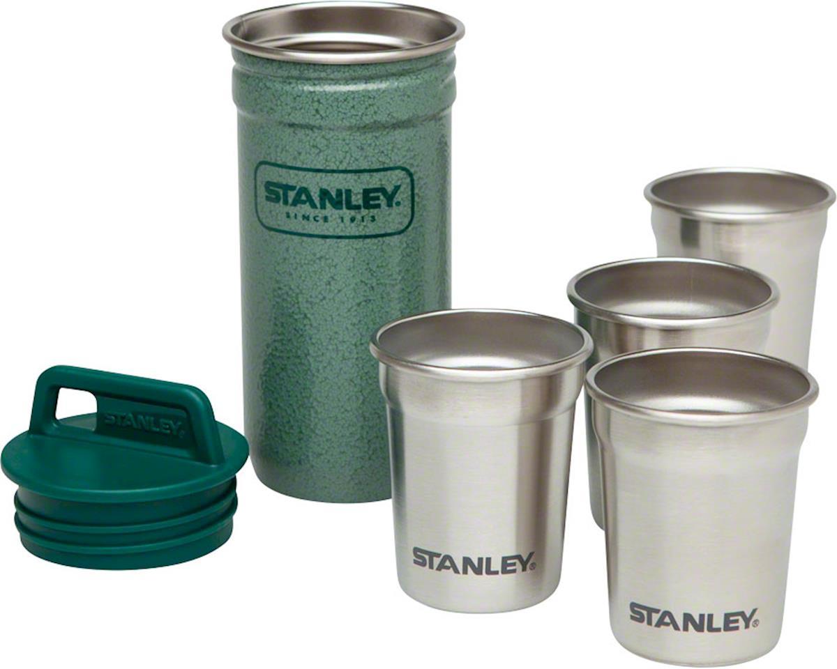 Stanley Adventure SS Shot Glass Set Hammertone Green