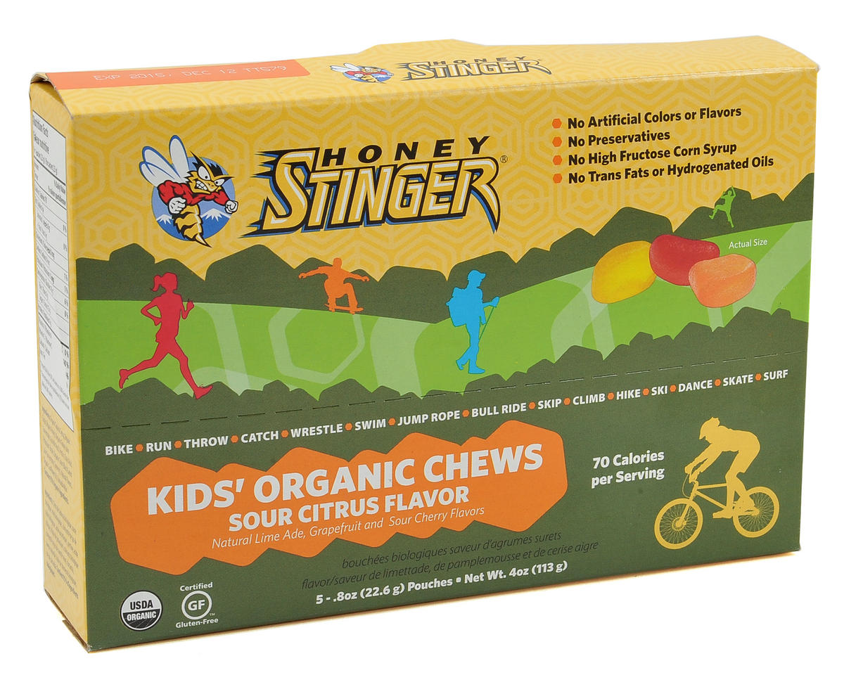 Honey Stinger Kids Organic Energy Chews (Box Of 5) (Sour Citrus)