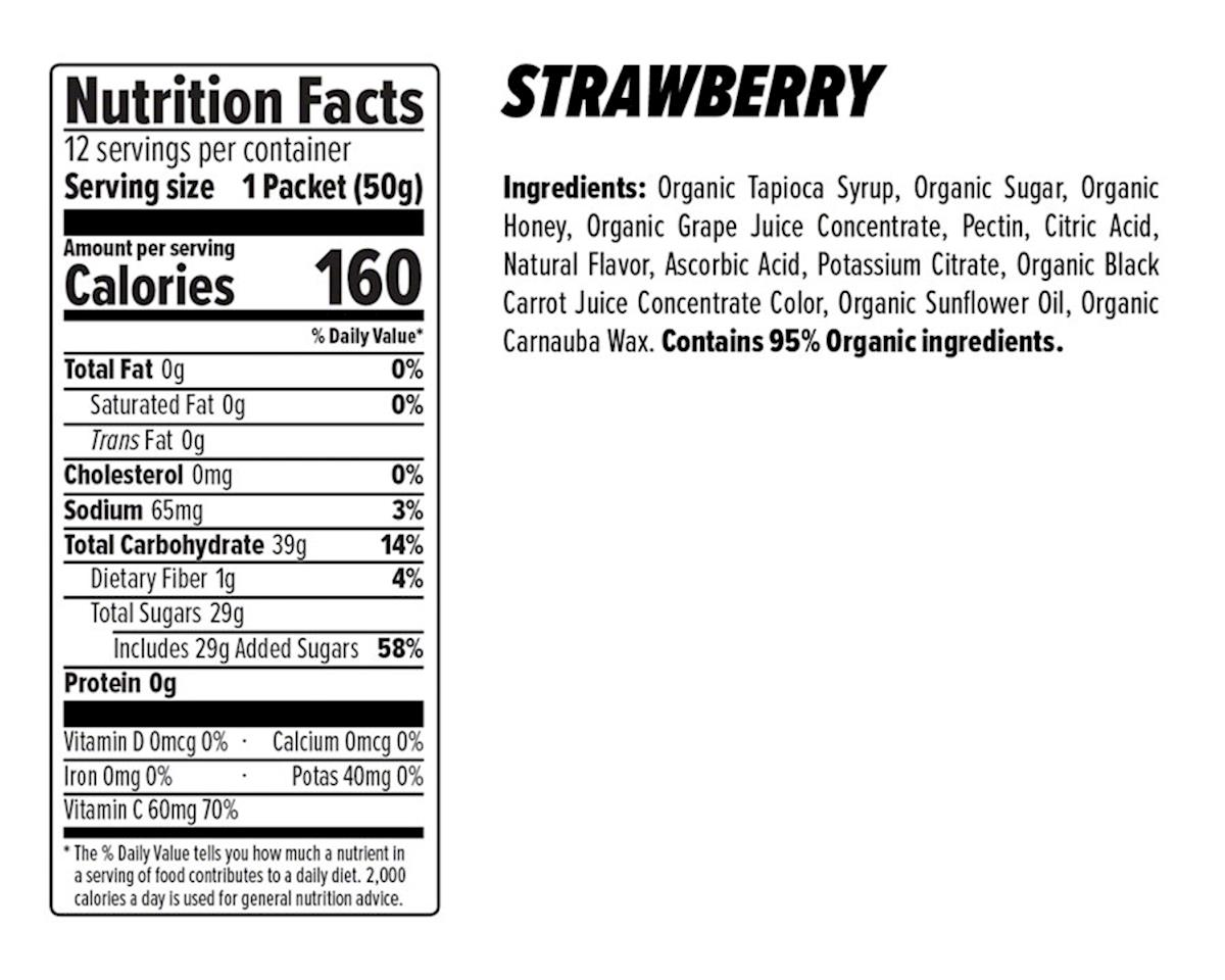 Image 3 for Honey Stinger Organic Energy Chews (Strawberry) (12 1.8oz Packets)