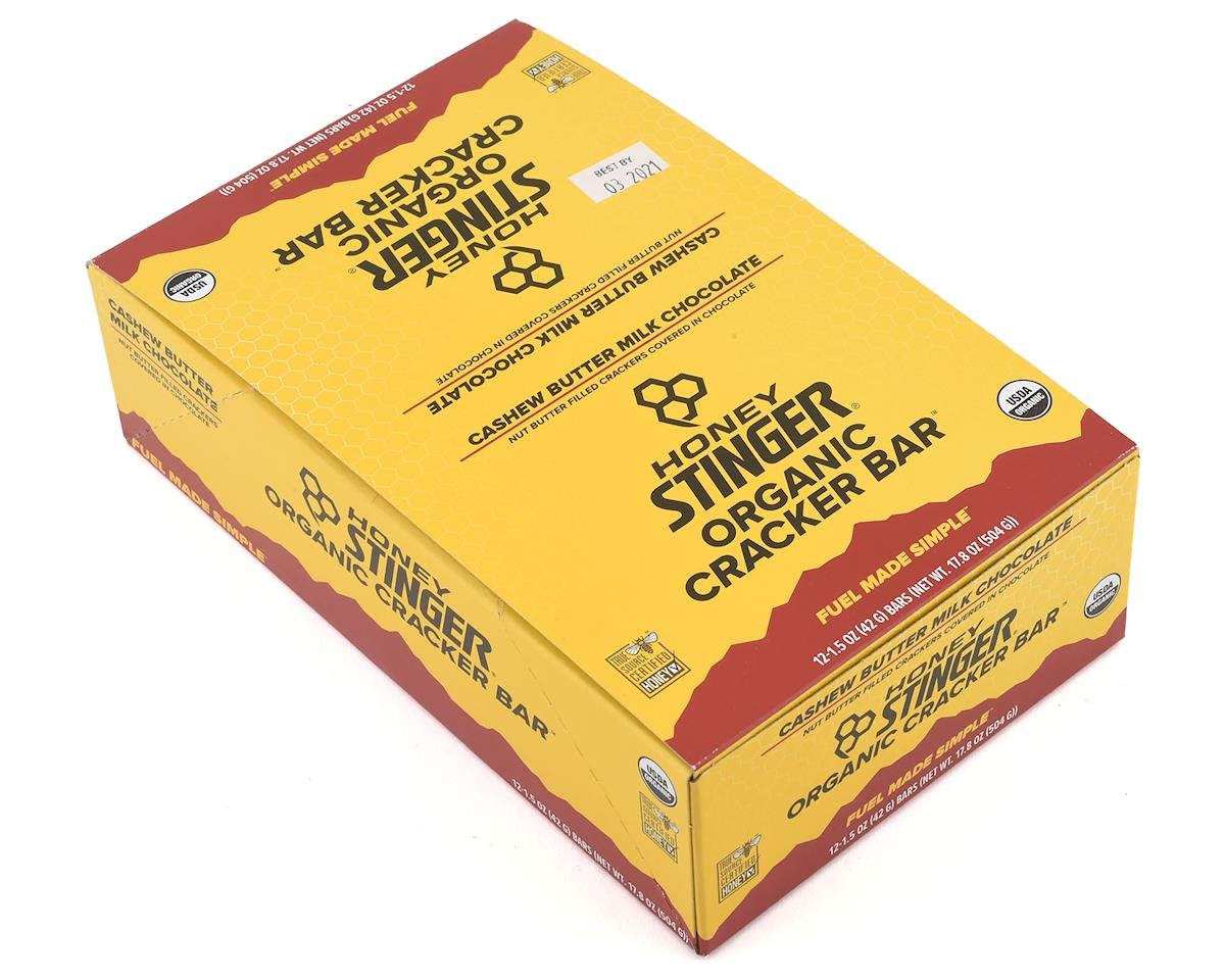 Honey Stinger Organic Cracker Bars (Cashew Butter) (12) (12 1.5oz Packets)