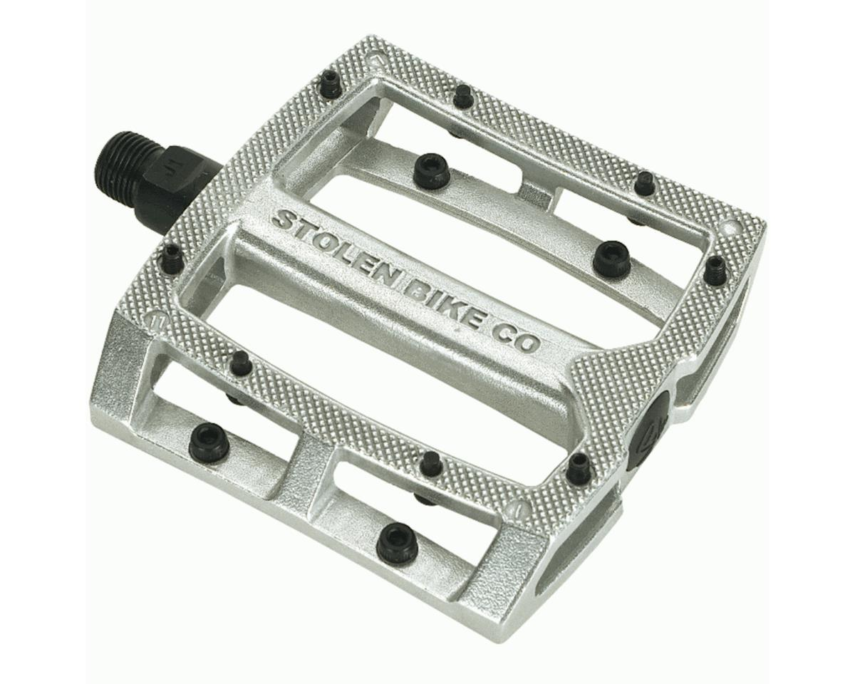 "Stolen Throttle Unsealed Pedals (Silver) (9/16"")"