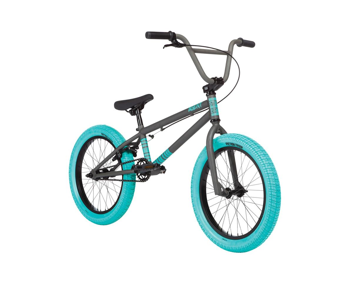 "Stolen 2020 Agent 18"" Bike (18"" TT) (Matte Clear Raw/Caribbean Green)"