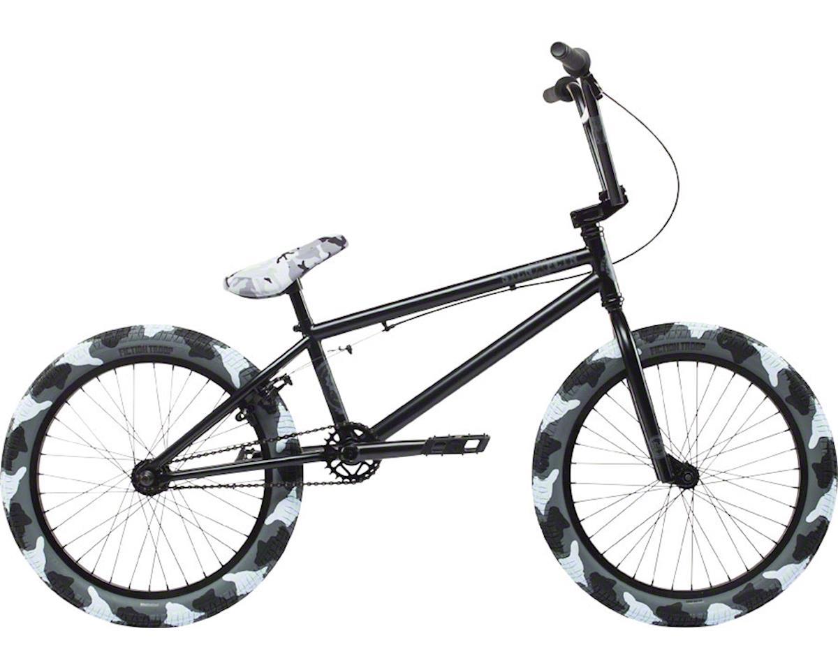 """Stolen 2018 STLN X FCTN 20"""" BMX Bike Matte Black With Urban Camo Tires"""