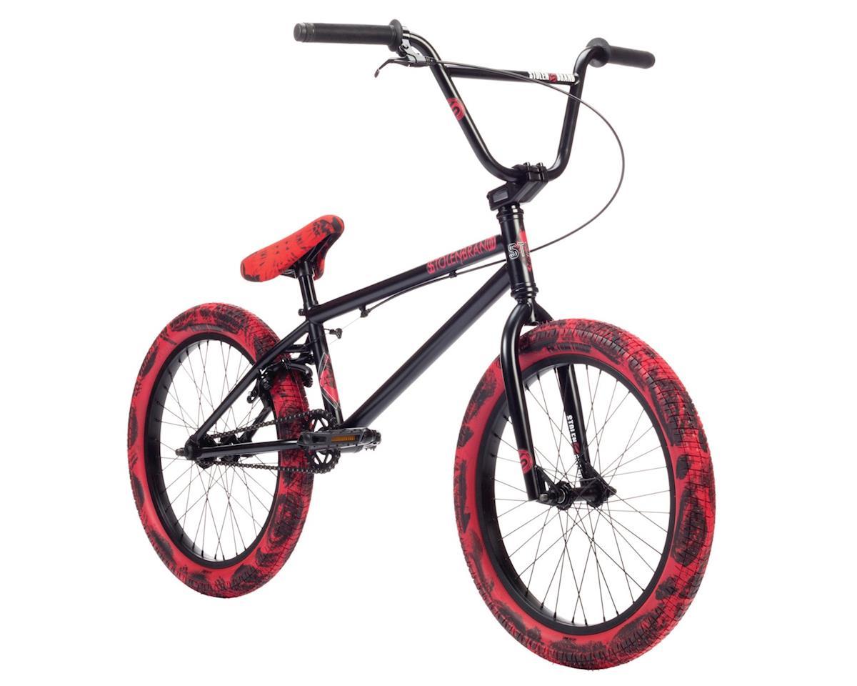"""Stolen 2019 Casino 20"""" BMX Bike Black/Red Tie Dye"""