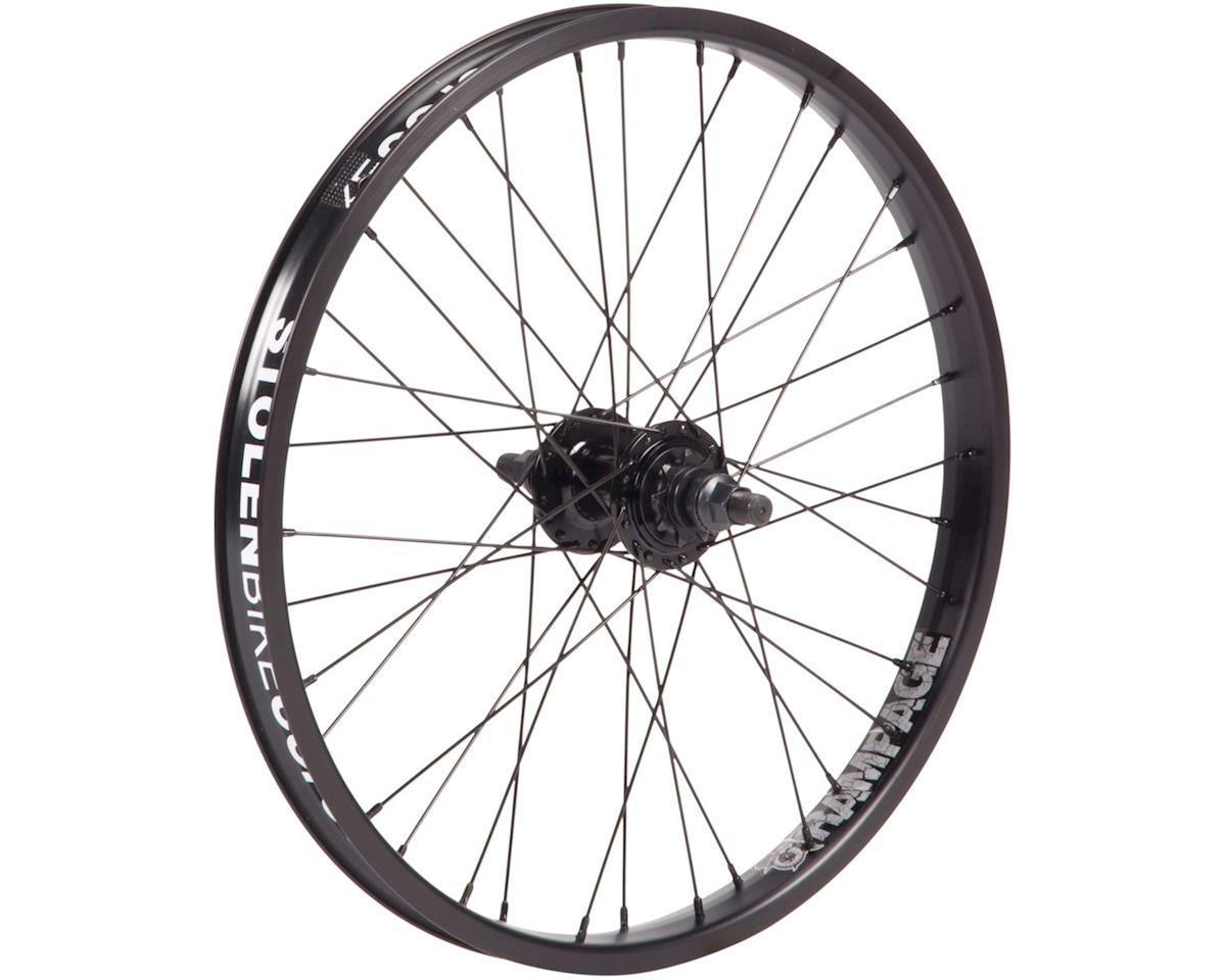 """Stolen Rampage Rear Wheel - 20"""", 14 x 110mm, Rim Brake, Cassette, Black, Clinche"""
