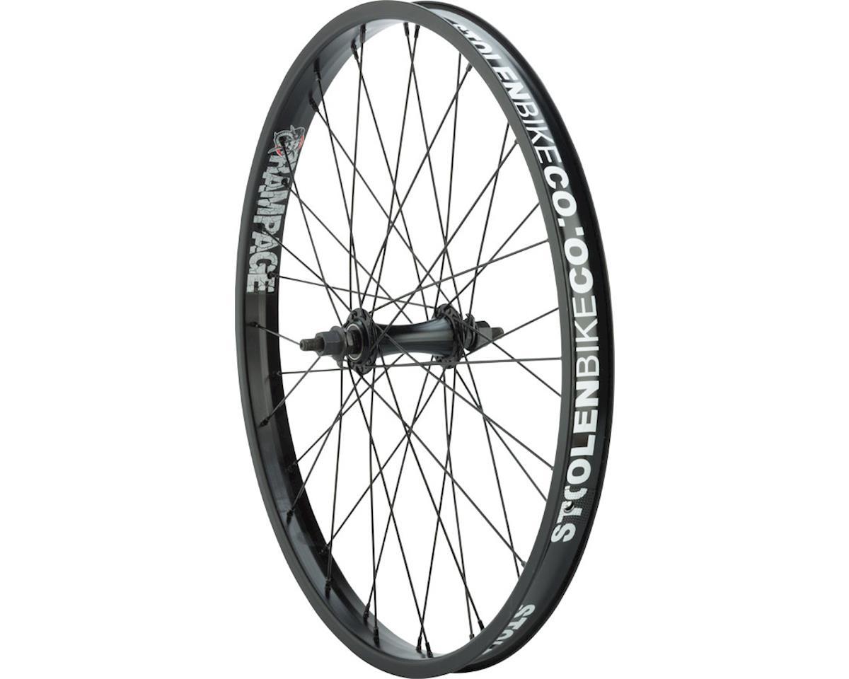 """Stolen Rampage Front Wheel - 22"""", 3/8"""" x 100mm, Rim Brake, Black, Clincher"""