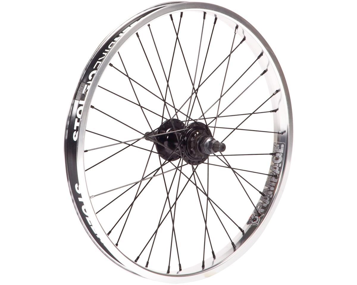 """Stolen Rampage Rear Wheel - 20"""", 14 x 110mm, Rim Brake, Cassette, Polished, Clin"""
