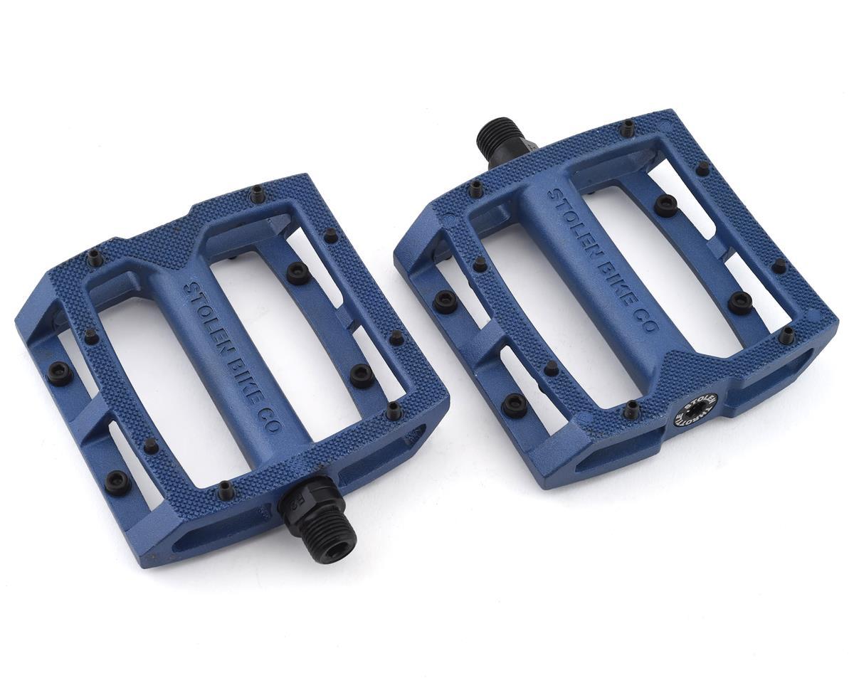 "Image 1 for Stolen Throttle Sealed Pedals (Blue) (9/16"")"