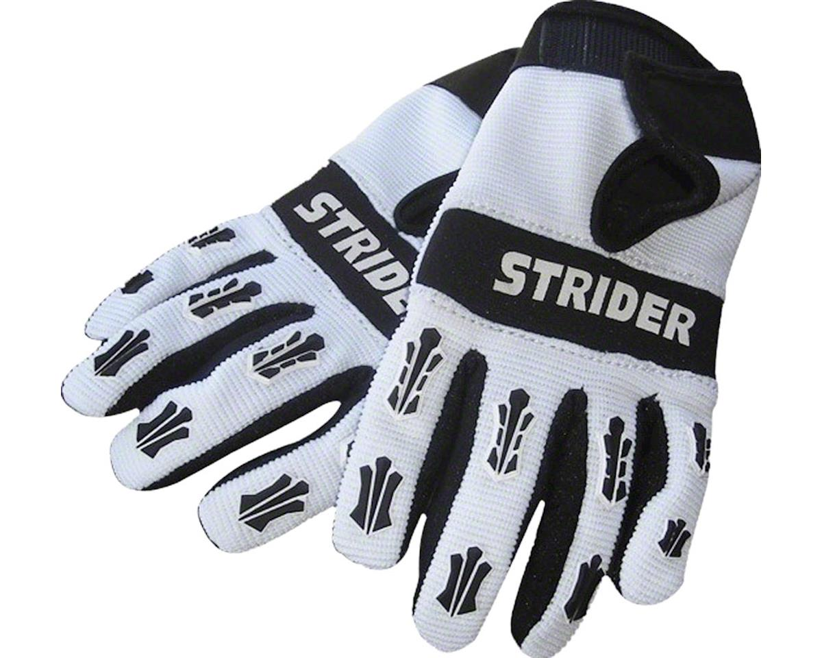 Strider Adventure Riding Gloves: White/Black, 4K-XS