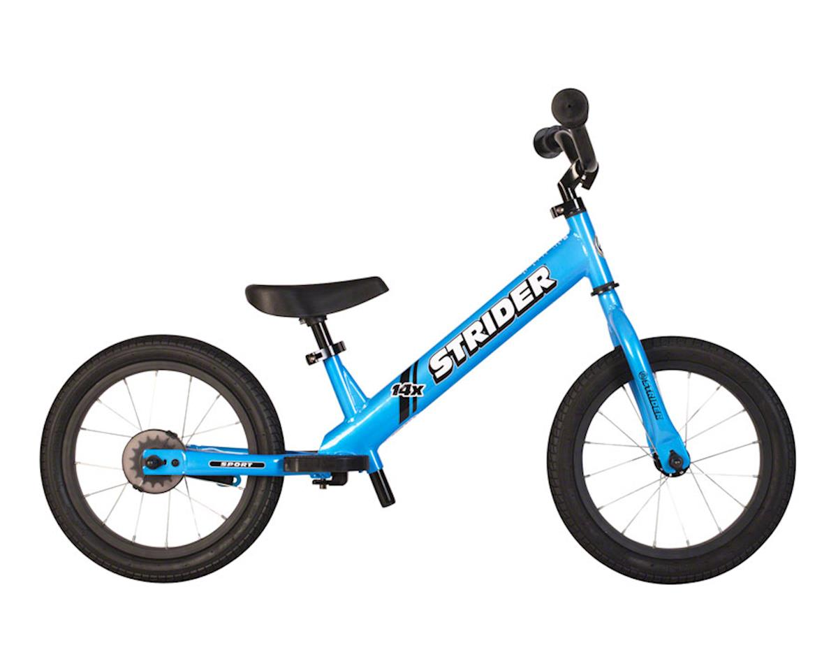 Strider 14x Sport Kids Balance Bike, Blue, includes Easy-Ride Pedal Kit