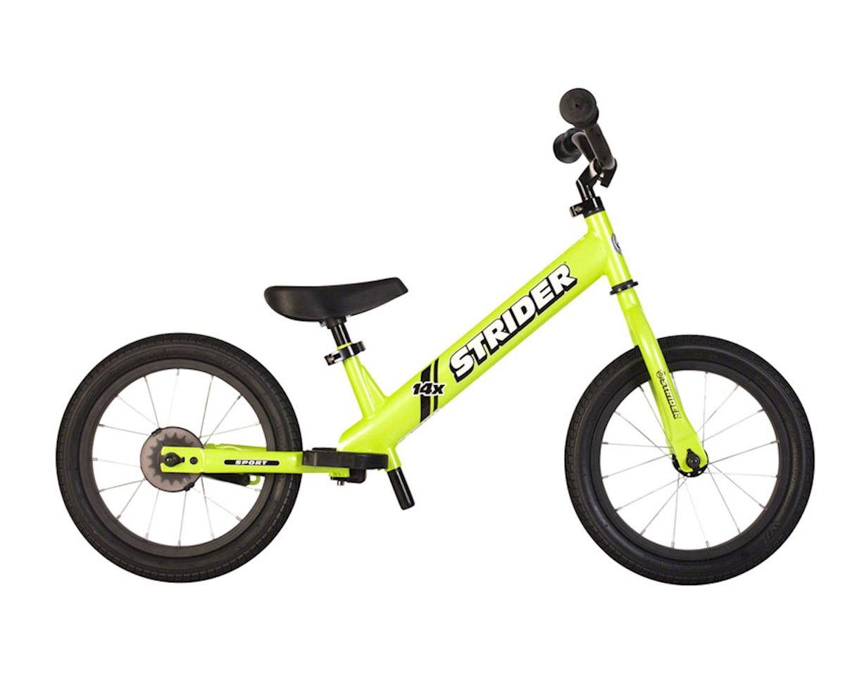 Strider 14x Sport Kids Balance Bike, Green, includes Easy-Ride Pedal Kit