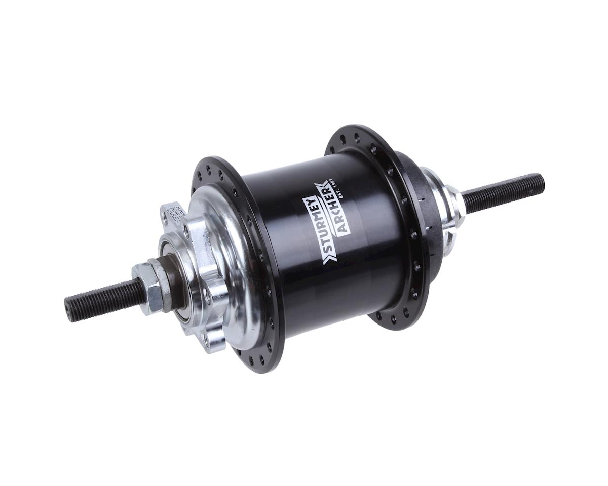 Sturmey Archer RS-RK3 3-sp disc hub, 36h - black