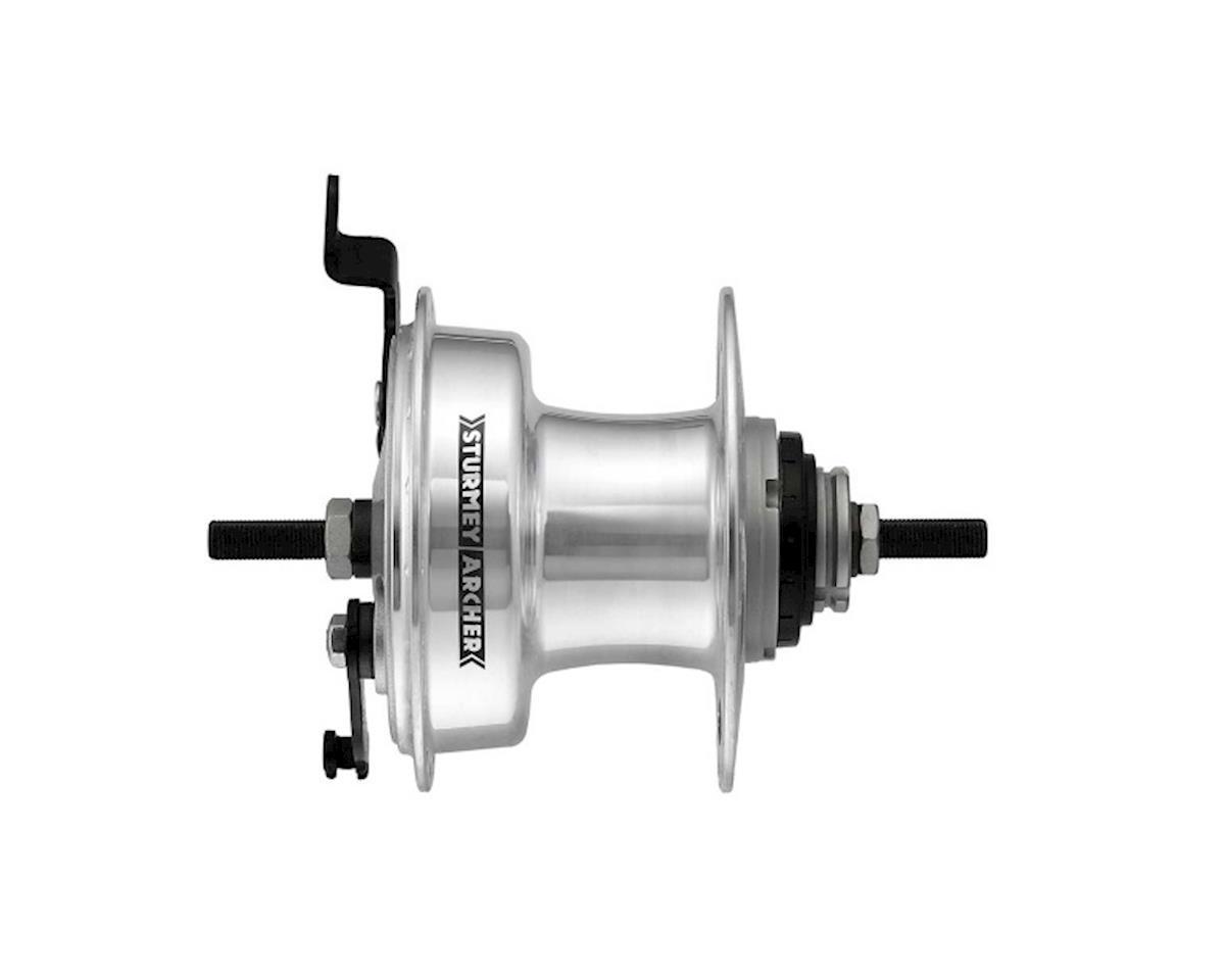 Sturmey Archer RXL-RD3 3-sp hub with 90mm drum brake, 36h silver