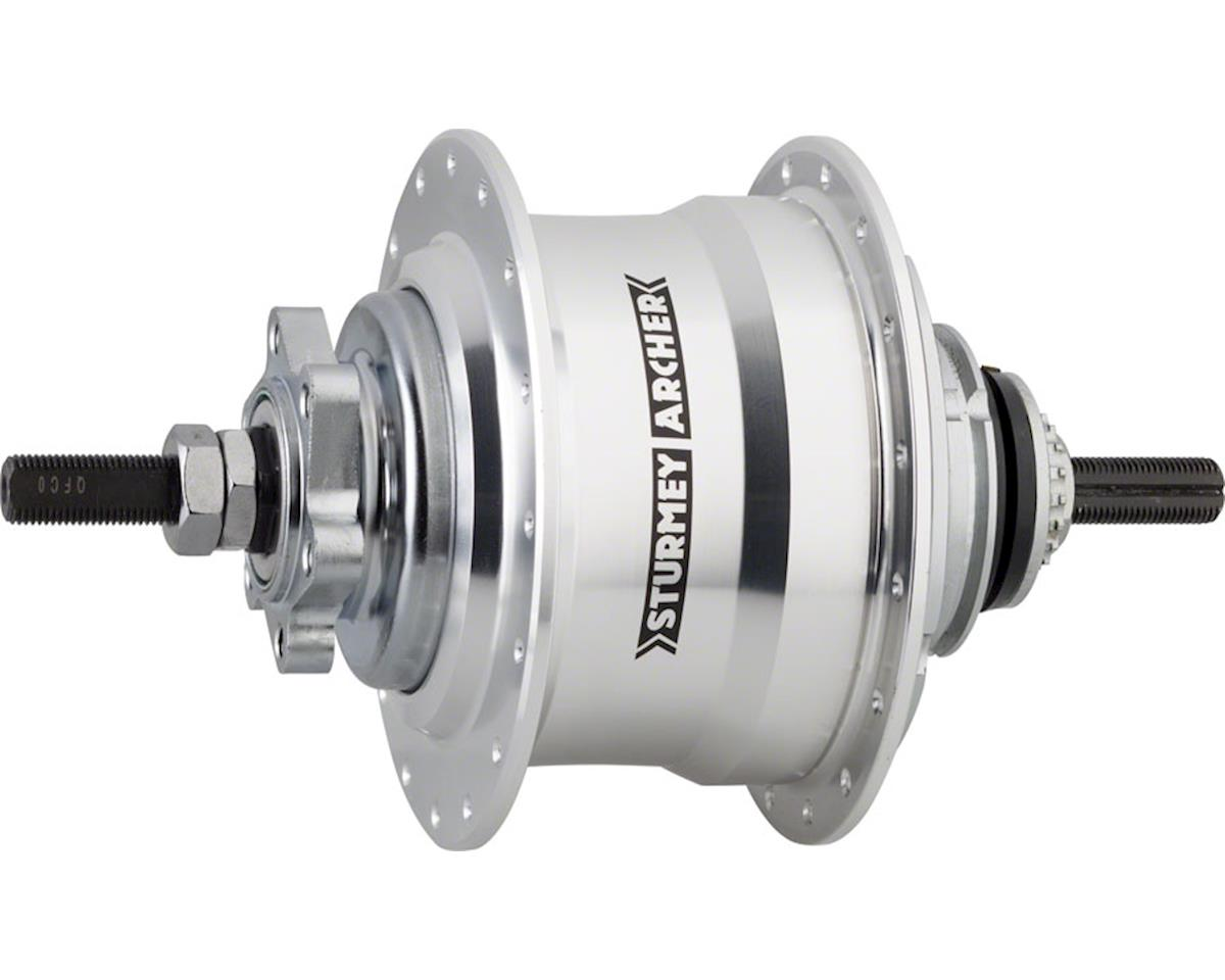 Sturmey Archer RX-RK5 5 Speed Hub: 32H, 135OLD, 90mm 6-Bolt Disc, Silver