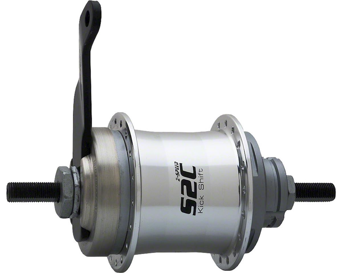 Sturmey Archer Sturmey-Archer S2C Kick-Shift Hub Kit 36h 116mm Silver with Coaster Brake