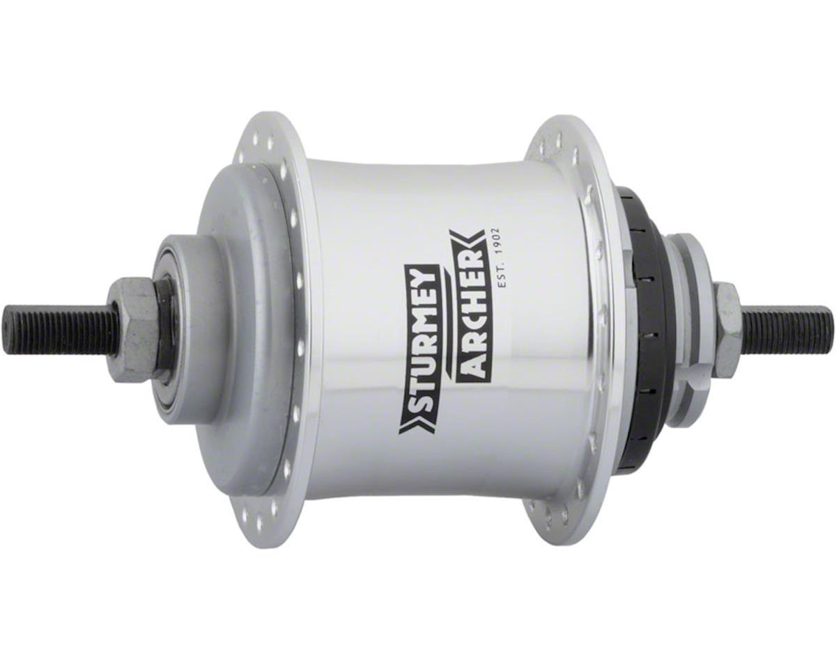 Sturmey-Archer S2 Kick-Shift Hub Kit 36h 110mm Silver without Coaster Brake