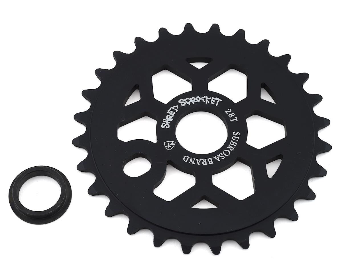 Subrosa Shred Sprocket (Matte Black) (28T)